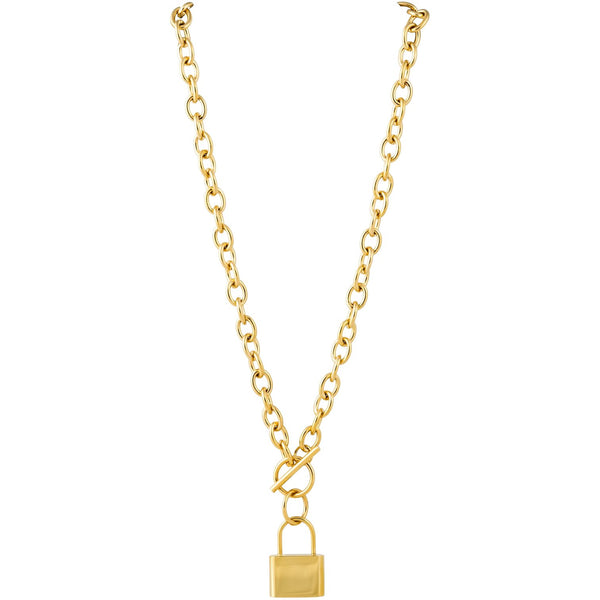 Stasi Gold Toggle Lock Necklace
