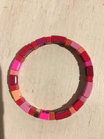 Shades of Pink Enamel Bracelet