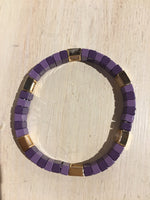 Purple and Gold Enamel Bracelet