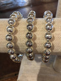 Sliver Beaded Bracelet in various sizes