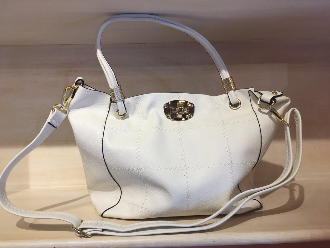 Winter White Tote with Purse Insert