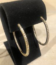 Load image into Gallery viewer, CZ Hoop Earring