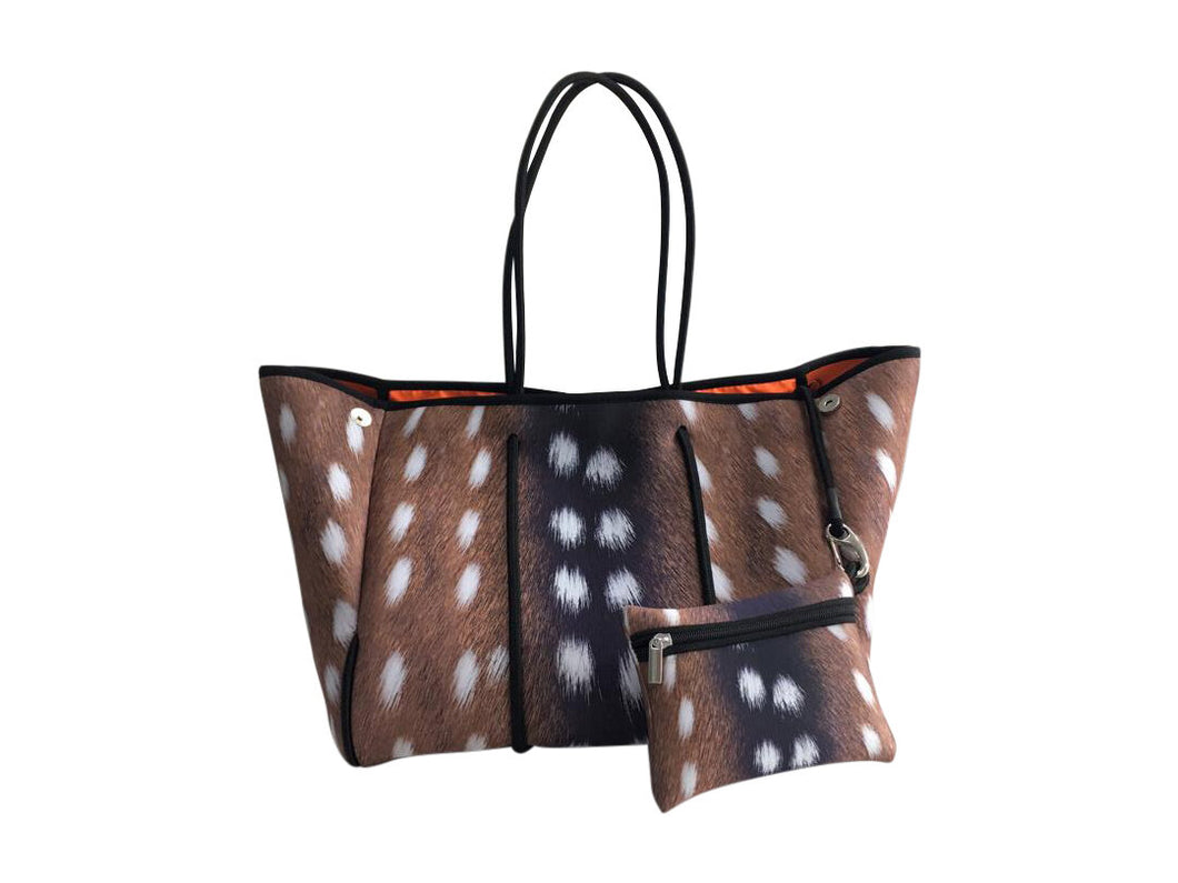 Animal Print Axis Neoprene Tote Bag