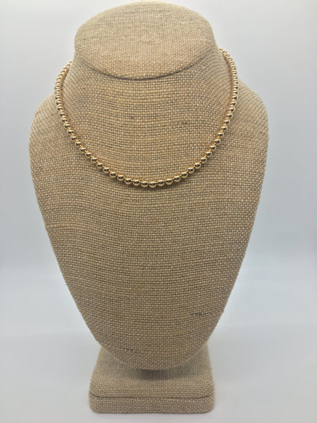 5 ml Gold Filled Beaded Necklace