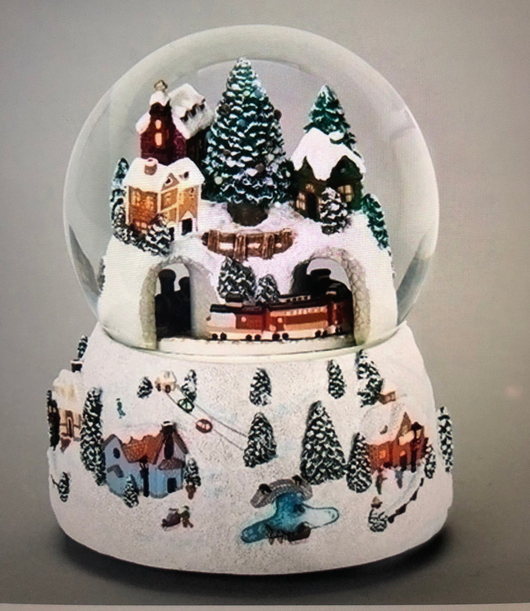 Musical Christmas Village Snow Globe