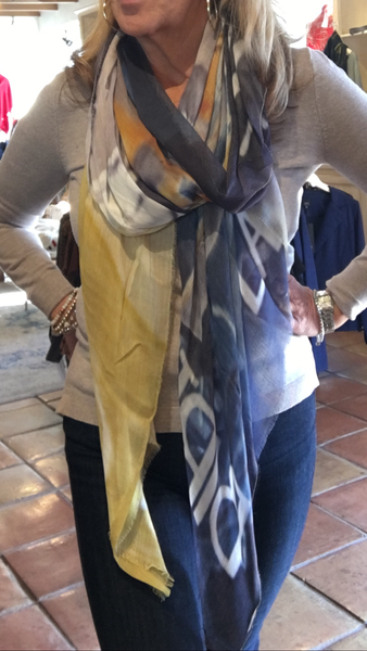 Silk and Cashmere Scarf  New Orleans