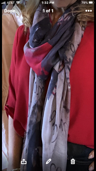 Silk and Cashmere Scarf - Love Slate