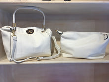 Load image into Gallery viewer, Winter White Tote with Purse Insert