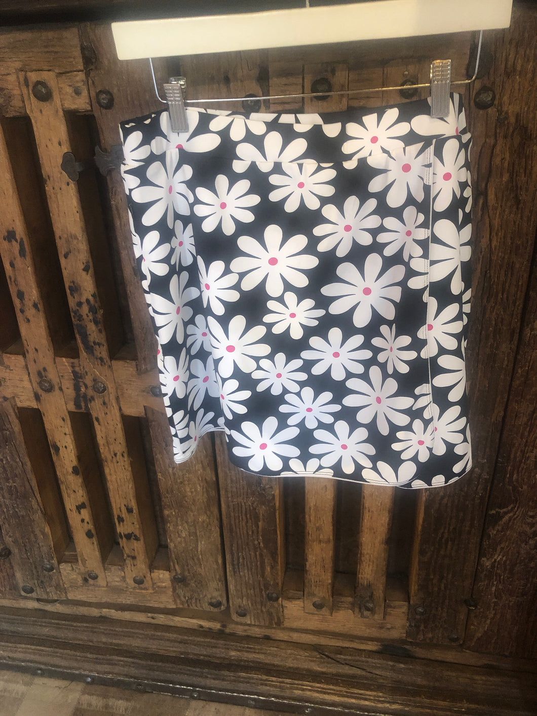 Lulu B Black and White Daisy DAI Skort 3148