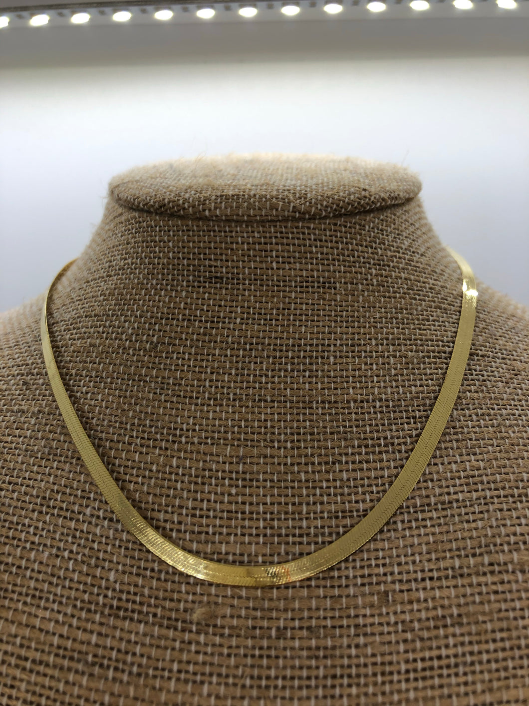 Gold Snake Chain Necklace 16
