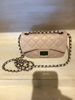 Blush Quilted Cross body purse