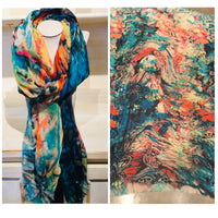 Silk and Cashmere scarf - Butterfly