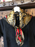 Medium Size Silk Like Ascot Scarf
