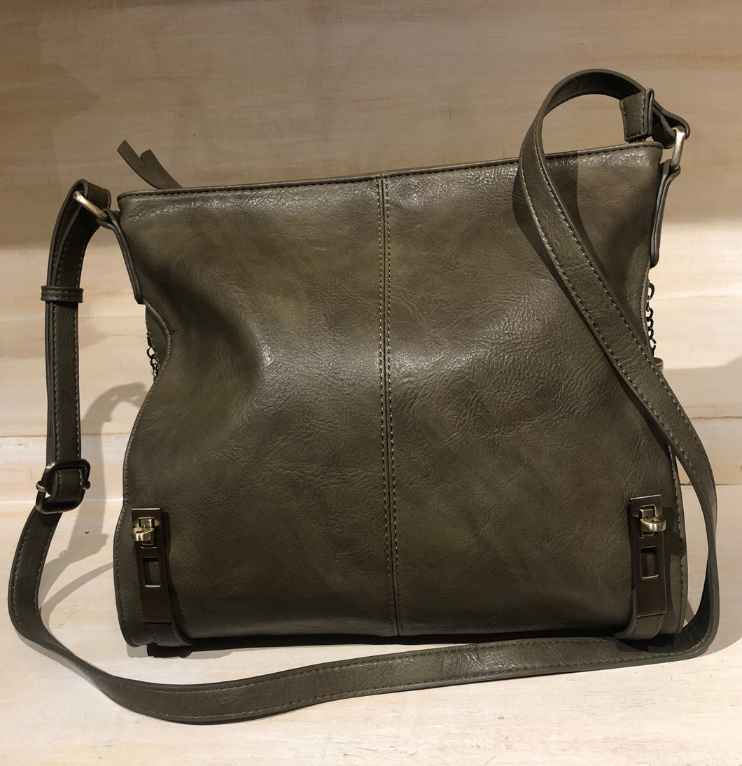 Olive Cross body with Side pockets for Concealed Weapon