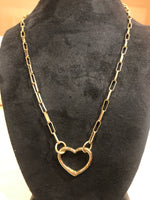 The Brooke Gold Heart Necklace