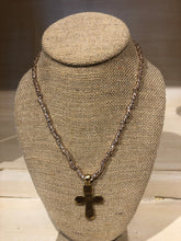 Load image into Gallery viewer, Beaded Stretch Large Cross Necklace