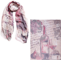Silk and Cashmere scarf - Pinot Noir