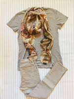 Silk and Cashmere scarf - World