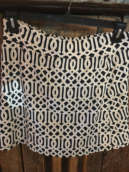 Lulu B Skort 3168 GWB Tan and black