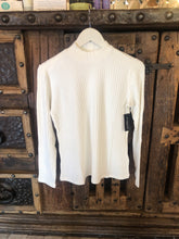 Load image into Gallery viewer, Mock Neck Long Sleeve knit Tee