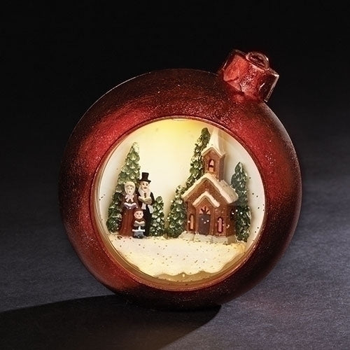 Carolers Light Up Snow Globe