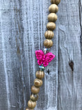Necklace Butterfly (pink)