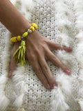 Bracelet Wood Yellow