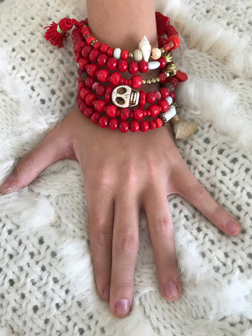 Bracelet Coachella Red