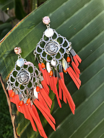Earrings Indian Orange