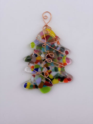Multi Colored Tree Suncatcher-120