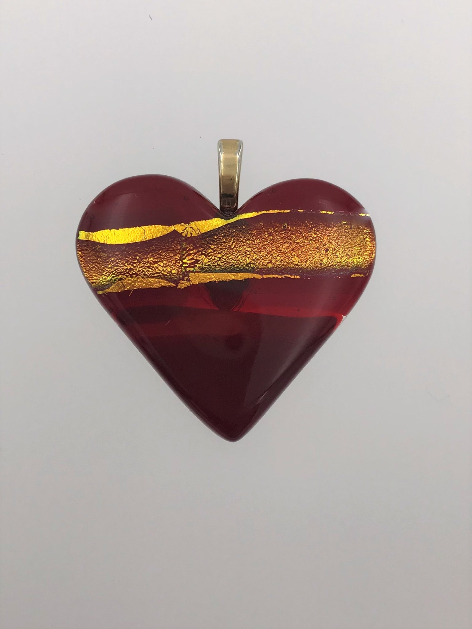 Red Heart Pendant - 1009