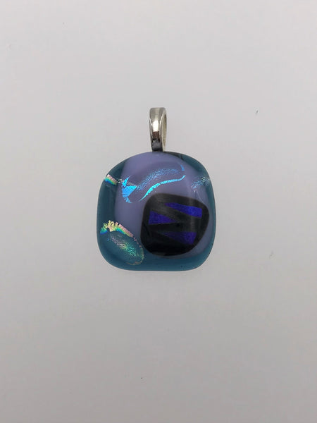 Funky Blue Glass Pendant - 1019