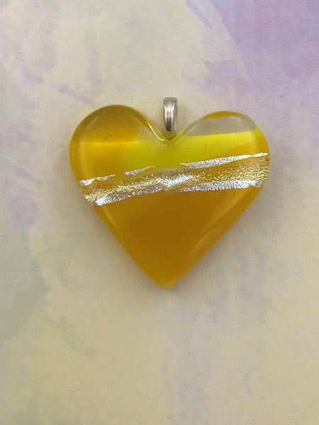 Yellow Heart Pendant -1004
