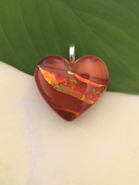 Coral Heart Pendant - 1012