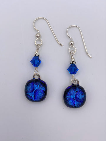 Dichroic Dangle Earring-2601