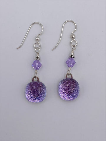 Dichroic Dangle Earring-2603