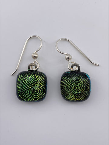 Dichroic Dangle Earring-2106
