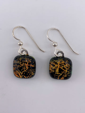 Dichroic Dangle Earring-2108