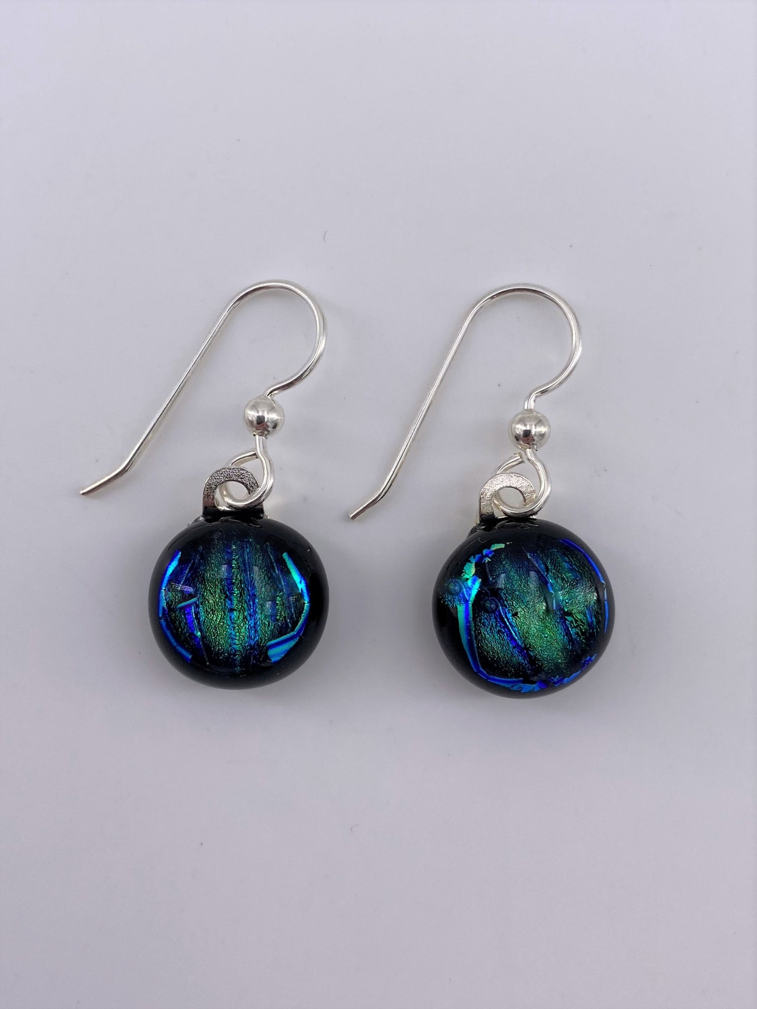 Dichroic Dangle Earring-2101