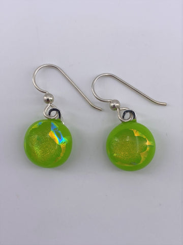 Dichroic Dangle Earring-2104