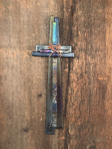 Fused Glass Cross - 501