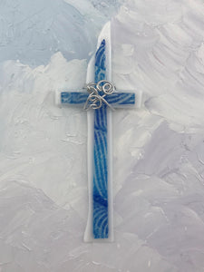 Fused Glass Cross - 203