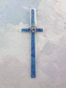 Fused Glass Cross - 310