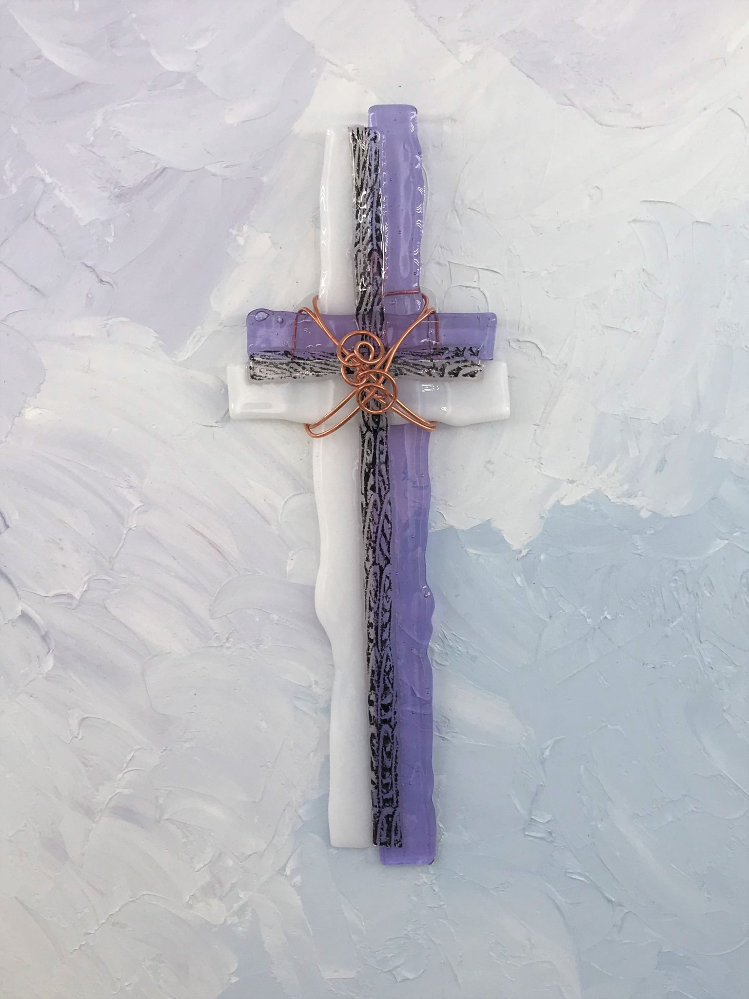 Fused Glass Cross - 311