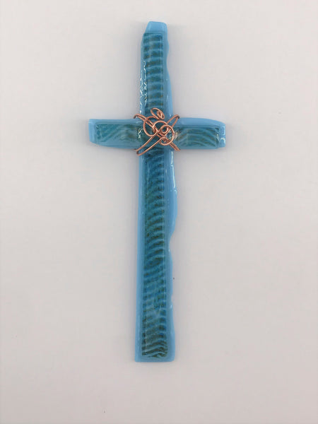Fused Glass Cross - 201