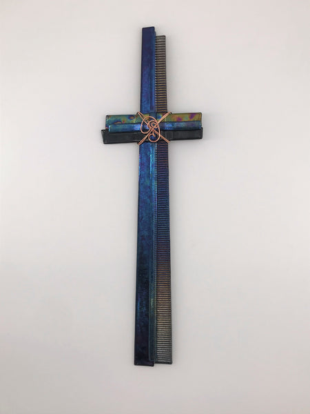Fused Glass Cross - 407