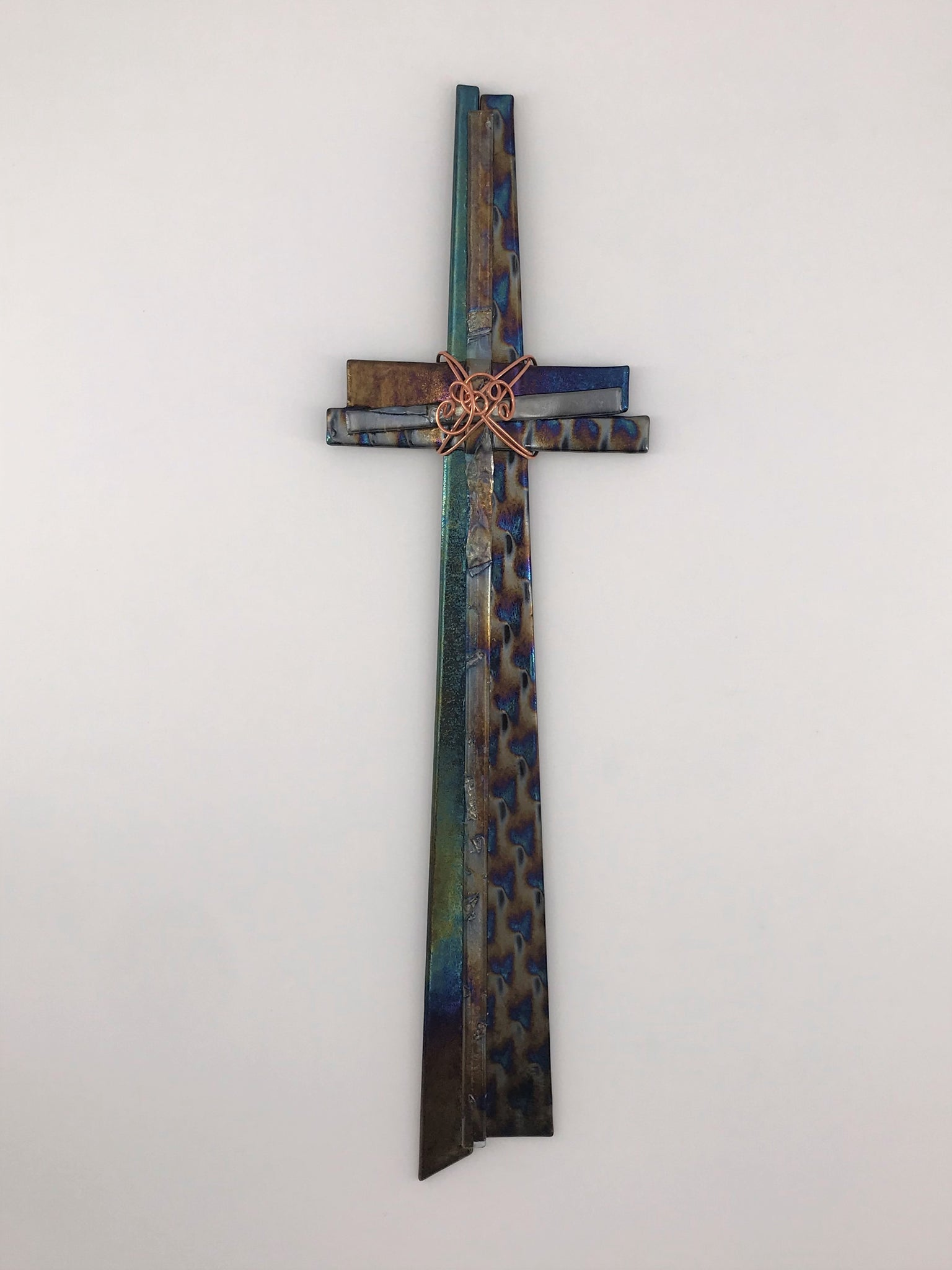 Fused Glass Cross - 404