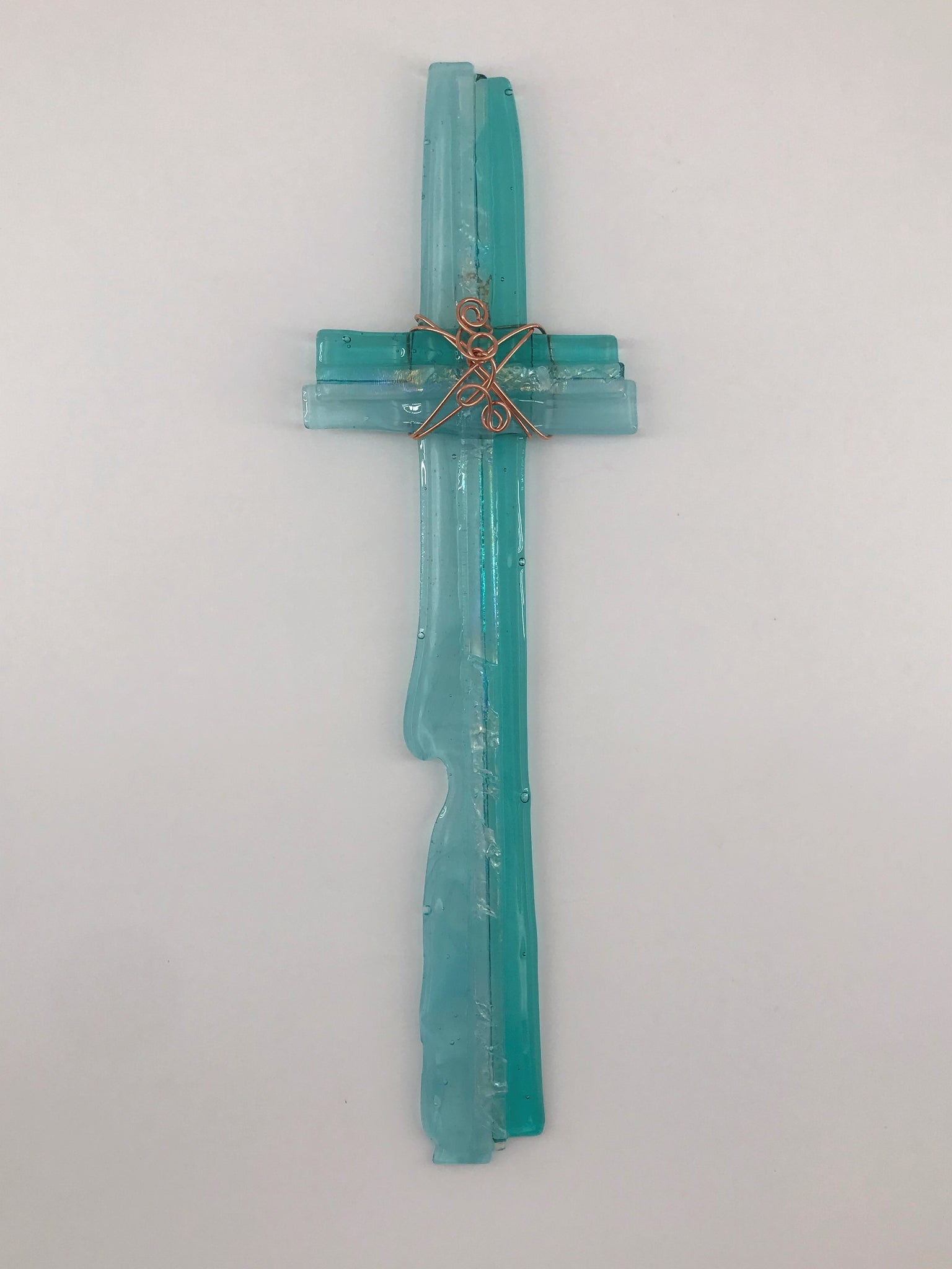 Fused Glass Cross - 409