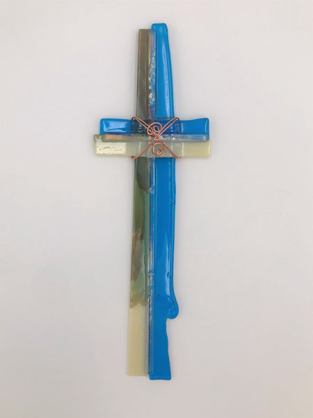 Fused Glass Cross - 602