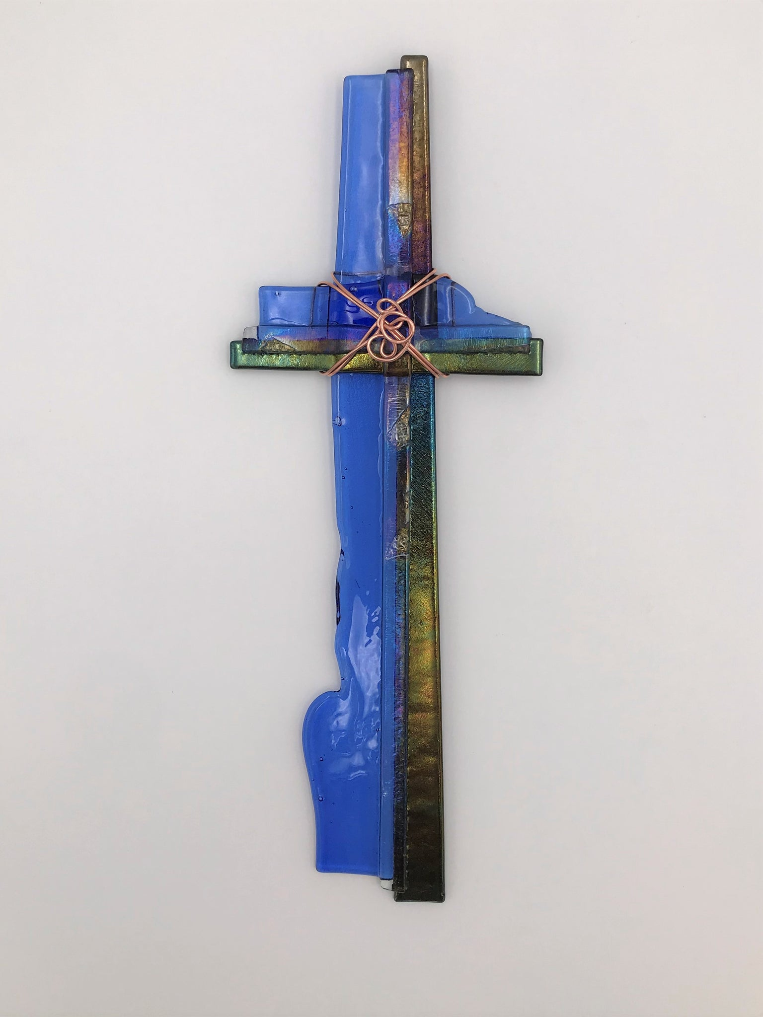 Fused Glass Cross - 605